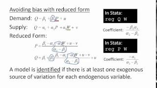 simultaneous equations and instrumental variables