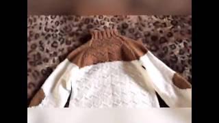 Обзор свитера, мужской свитер, обзор пряжи, мои работы, обзор спиц, как я вязала свитер
