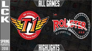 SKT vs KT Highlights ALL GAMES | LCK Playoffs Round 2 Spring 2018 | SK Telecom T1 vs KT Rolster