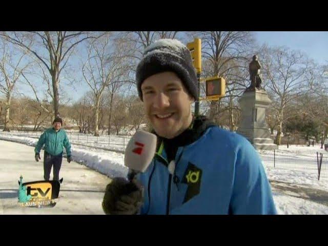 Luke auf Tour im Central Park - TV total