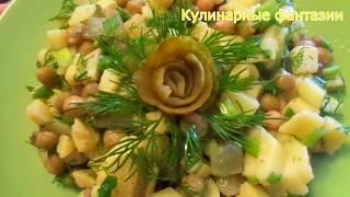 Картофельный салат на каждый день НЕ ДОРОГОЙ И ВКУСНЫЙ. Салаты. Простые рецепты