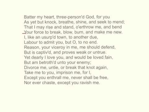 Holy Sonnet XIV, by John Donne
