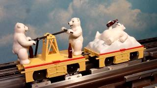 K-line Coca-cola Bears Handcar For Lionel & Mike's Train House O-gauge Layouts.