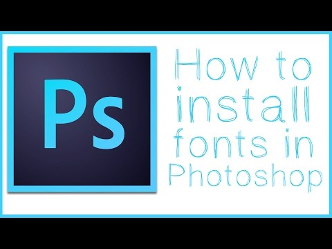 How To Download and Install Fonts In Photoshop - Photoshop Tutorial