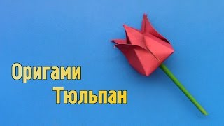 Как сделать тюльпан из бумаги своими руками (Оригами)