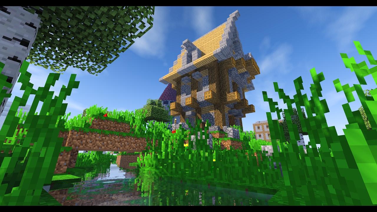 Minecraft Timelapse Maison Médiéval By Exaude Schematics