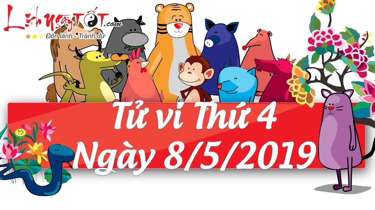 Xem tử vi hàng ngày – Tử vi Thứ 4 ngày 8 tháng 5 năm 2019 của 12 con giáp