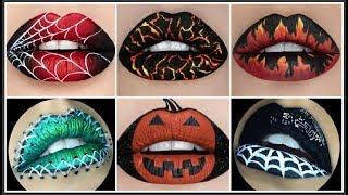 Video DIY: MAQUILLAJE DE LABIOS PARA HALLOWEEN 2017 ♥ Lipstick halloween Make up 2017 download MP3, 3GP, MP4, WEBM, AVI, FLV Juni 2018