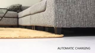 Robotic vacuum cleaner Ecovacs D77 with manual vacuum cleaner
