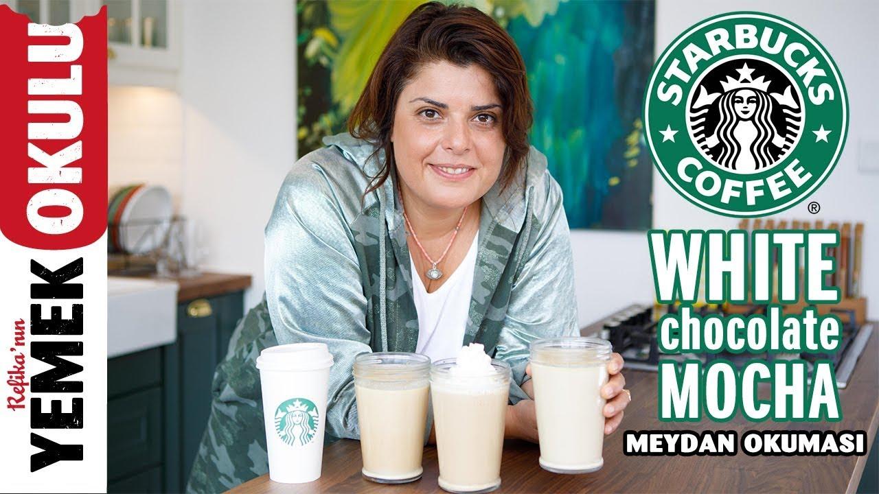 Starbucks White Chocolate Mocha (Challenge) Meydan Okuması | Evde White Chocolate Mocha Yapımı