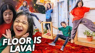 Siblings The FLOOR Is LAVA Challenge!! (Haha AKYAT!!) | Ranz and niana
