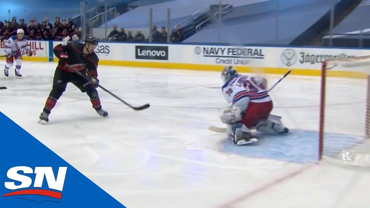 Henrik Lundqvist Stops Warren Foegele On Breakaway Chance