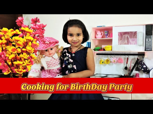 Cooking game in Hindi PART-4 | Birthday Party Celebration | Playing with Kitchen | #LearnWithPari