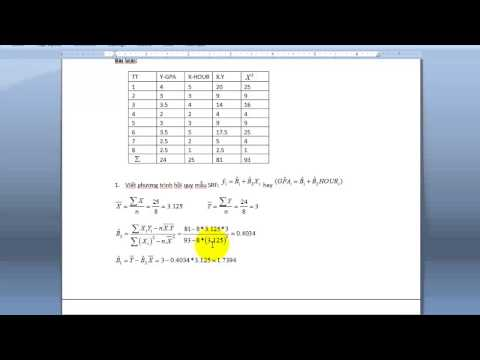 Kinh tế lượng cơ bản và viết phương trình hồi quy mẫu trên Eview.