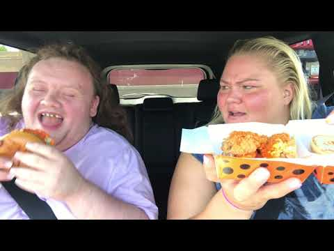 Two rednecks trying KFC's CHEETOS CHICKEN SANDWICH (food review)