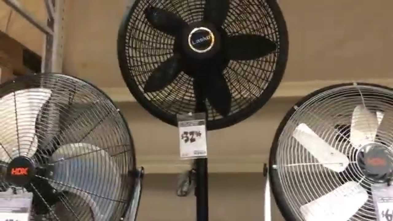 Floor fans for sale at Home Depot - YouTube