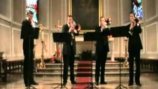 トロンボーンのカルテットはGECAは、モーツァルトの魔笛からの抜粋を果...