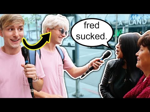 ASKING STRANGERS ABOUT FRED in disguise