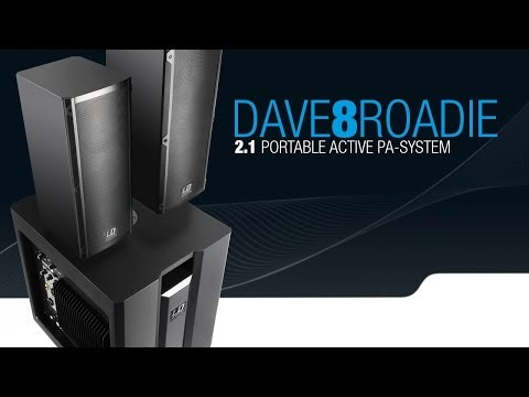 LD Systems DAVE 8 ROADIE - Portable active PA system with 3-Channel mixer