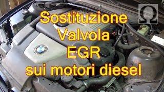Tutorial pulizia sostituzione valvola egr motore diesel (BMW)