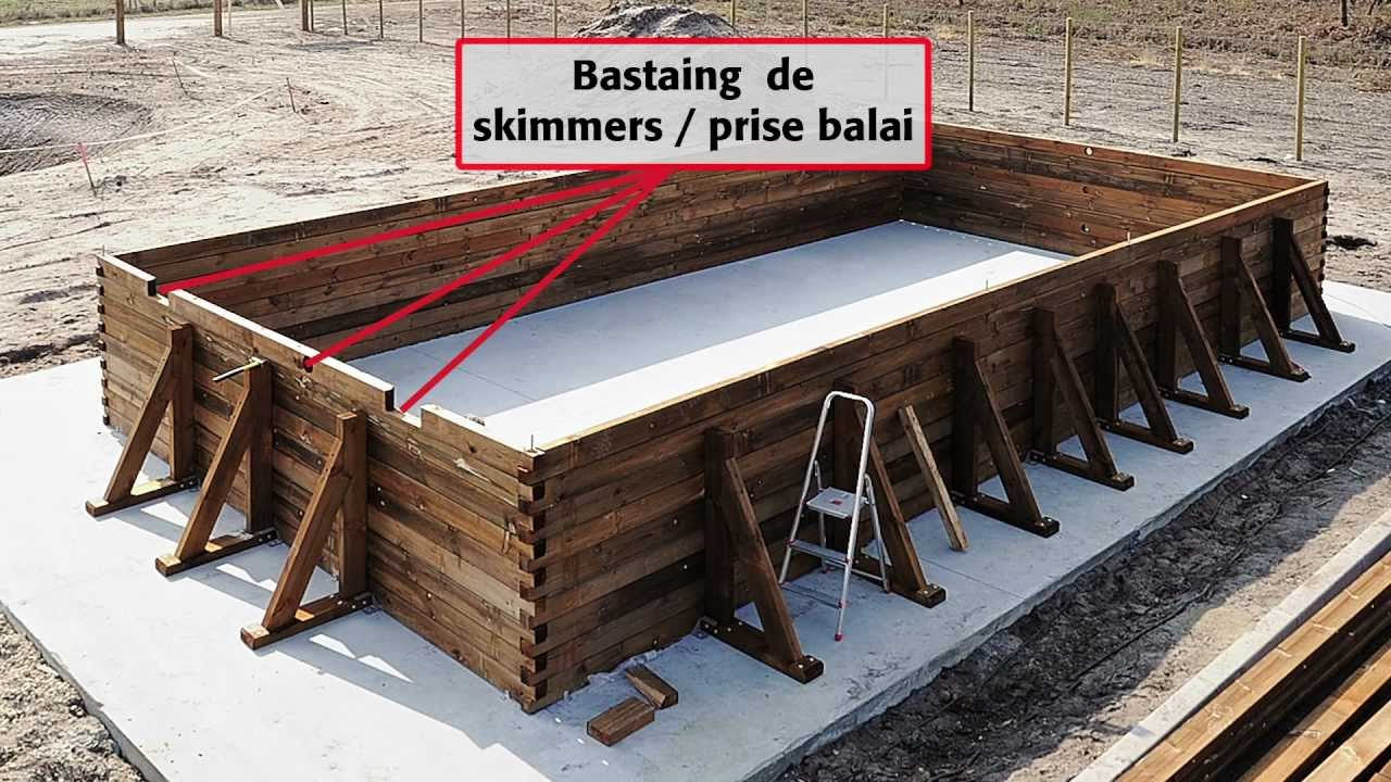 Comment installer une piscine bois rectangulaire hors s for Installer une piscine