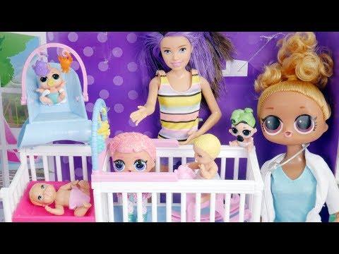 LOL Surprise Dolls Fake Barbie Custom Bedroom Store | Toy Egg Videos
