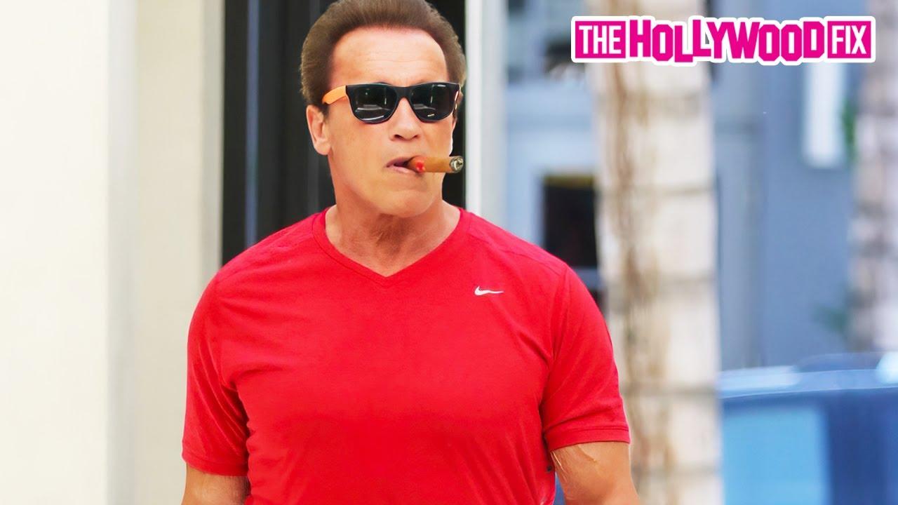 Arnold Schwarzenegger Gets A Haircut & Goes Shopping In ...  Arnold Schwarze...
