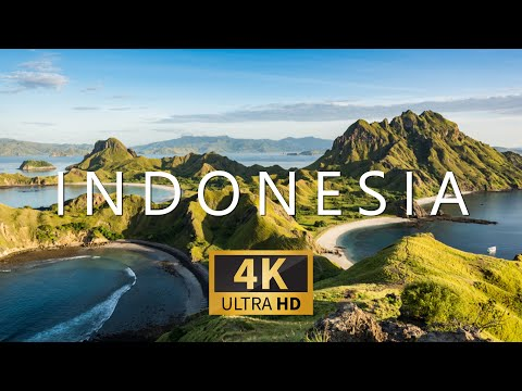 INDONESIA (4K UHD) Ambient Drone Film + Relaxing Piano Music for Stress Relief, Sleep, Spa, Yoga