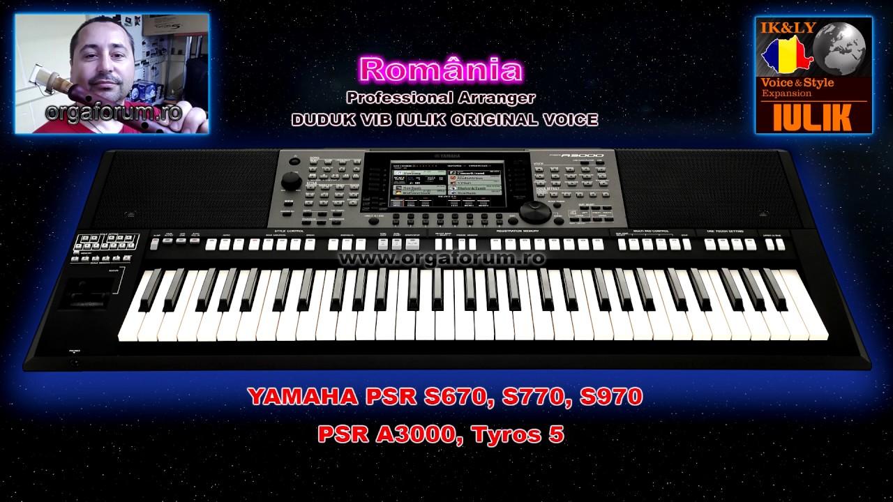 DEMO Pack IK&LY Voice Duduk® IULIK for Yamaha Psr S970, S770, A3000 & Tyros  5