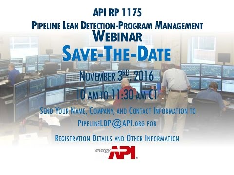 API RP 1175 Leak Detection Webinar