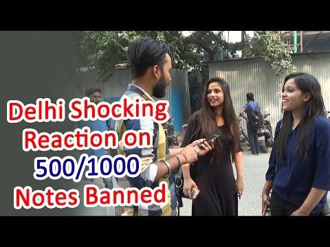 "Delhi Shocking Reaction On ""500/1000 Notes Banned"" || PM Narendra Modi || #Ghanta Hai"