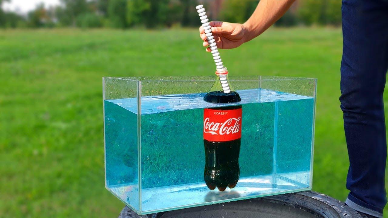 Experiment: Coca Cola Fountain Under Water