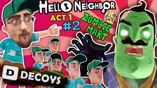 HELLO NEIGHBOR ZOMBIE IN BASEMENT! Deploy Decoy Distraction? I WISH! (FGTEEV Act 1 Part 2))