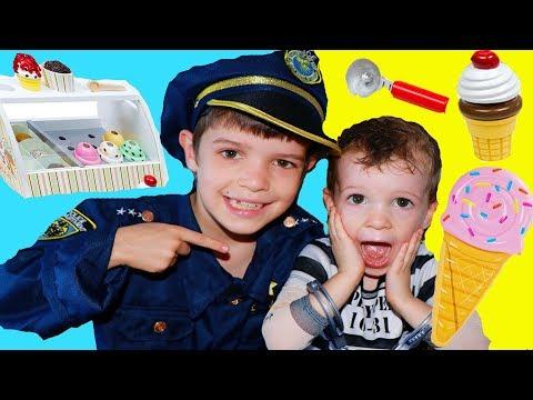Kids ICE CREAM STAND! Raise Money Pretend Play with Power Wheels!