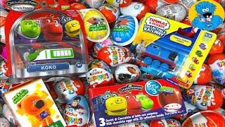 Кіндер Сюрпризи,A Lot Of Candy and Kinder Surprise Eggs Чаггингтон,Томас і Друзі, мі-Мі-ведмедики