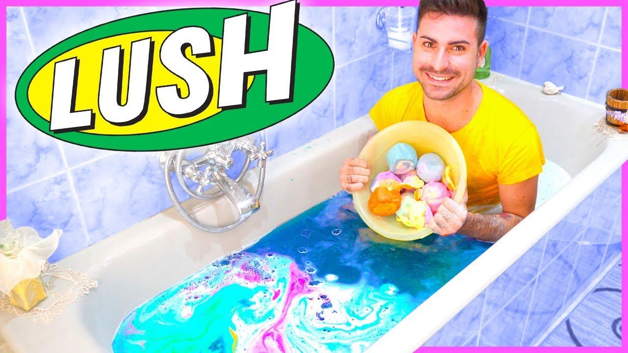15 bombe da bagno della lush insieme esperimento youtube - Bombe bagno lush ...