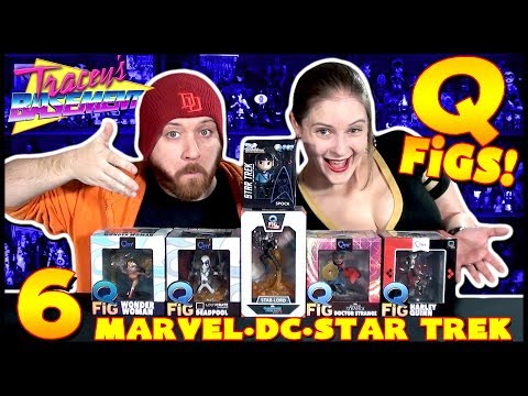 Q Fig Haul!  6 Qmx QFigs of Marvel, DC & Star Trek w/ Loot Crate Exclusive and QFig MAX Star Lord!