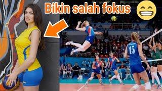 Pemain Voli Cantik Dengan Smash Keras | Volly Ball Dunia