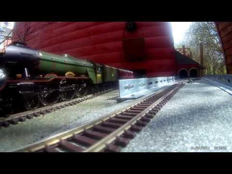 00 Garden Railway Some Train Running