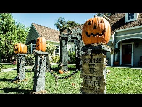 Paige Hemmis' DIY Pumpkin Fence Pillars