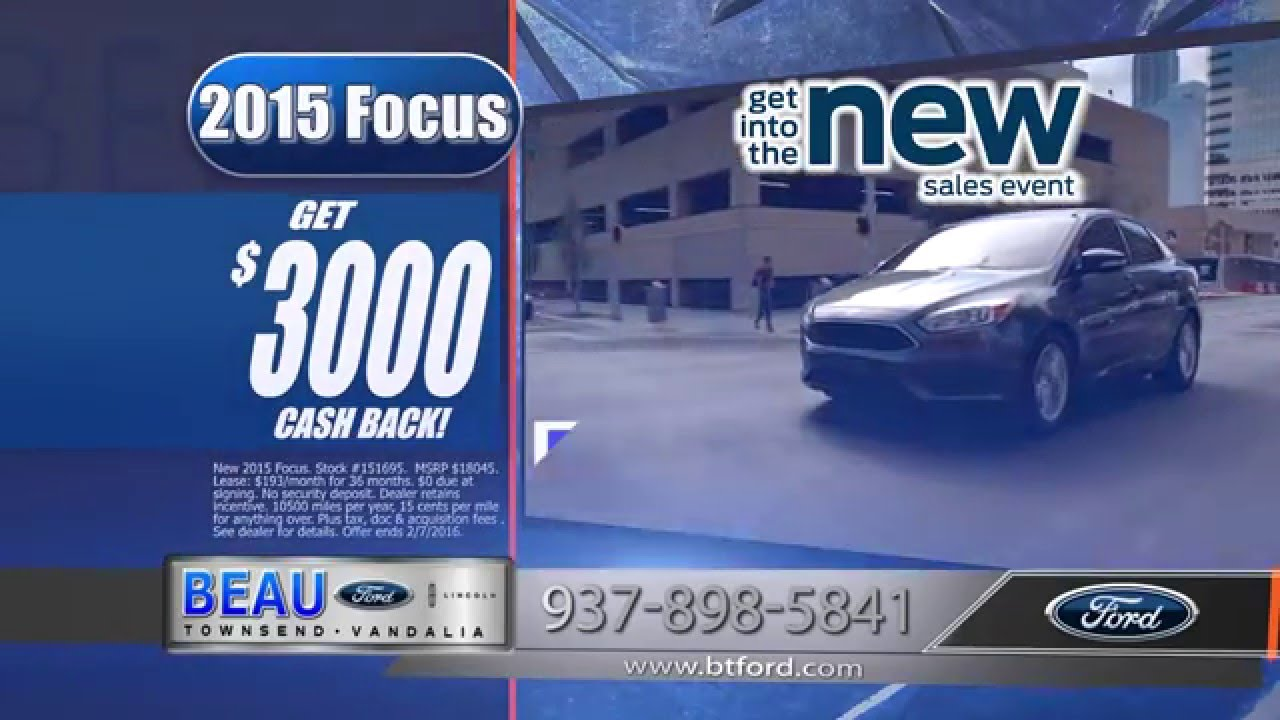Beau Townsend Ford >> Ford Focus, January 2016 15S Beau Townsend Ford Commercial - YouTube