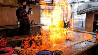 Download lagu 하루에 500명은 기본!! 줄서서 먹는 서민갑부 초대형 당구대 철판 삼겹살집 / billiards iron plate pork belly / korean street food