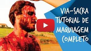 Aprenda a fazer a maquiagem de Jesus na Via-Sacra completa usando m...