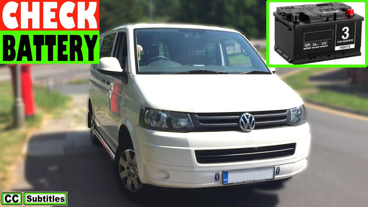 vw t5 battery location and how to check battery on vw t5. Black Bedroom Furniture Sets. Home Design Ideas