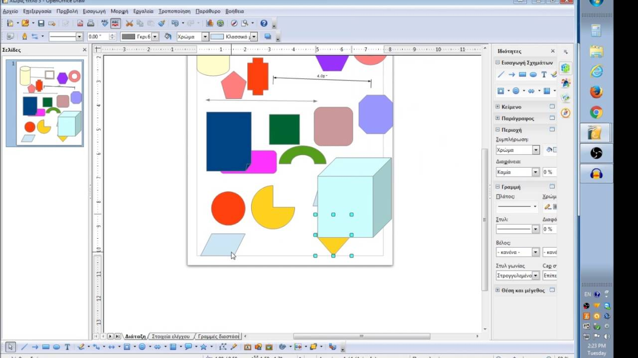 How To Use Open Office Draw Youtube