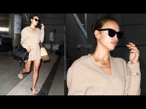 New Mom Irina Shayk Flaunts Perfect Figure At LAX