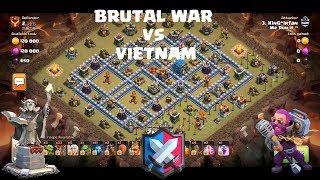 Brutal war Vs Vietnam | TH12 War attack Strategy 2019 | Best TH12 attack strategies