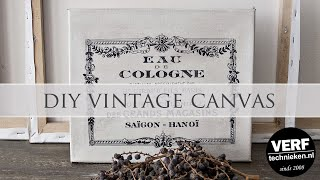 DIY Vintage Canvas met Art Medium