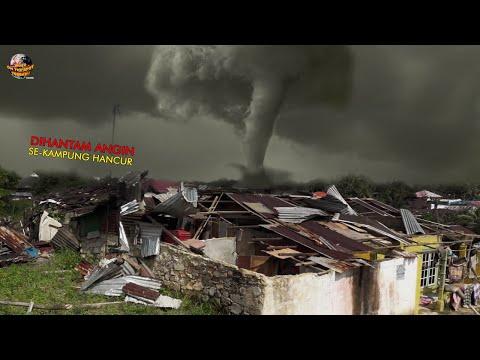 LAGI, Grogol Diterjang Angin Ribut Sebabkan Rumah Warga Porak-Poranda // Kejadian Terbaru 2021