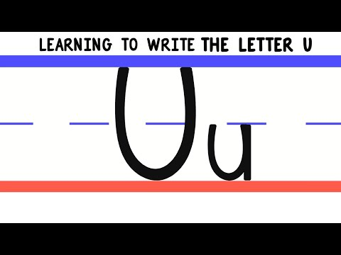 Write the Letter U - ABC Writing for Kids - Alphabet Handwriting by 123 ABC TV